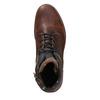 Kožená pánska obuv s masívnou podrážkou bata, hnedá, 896-4665 - 26