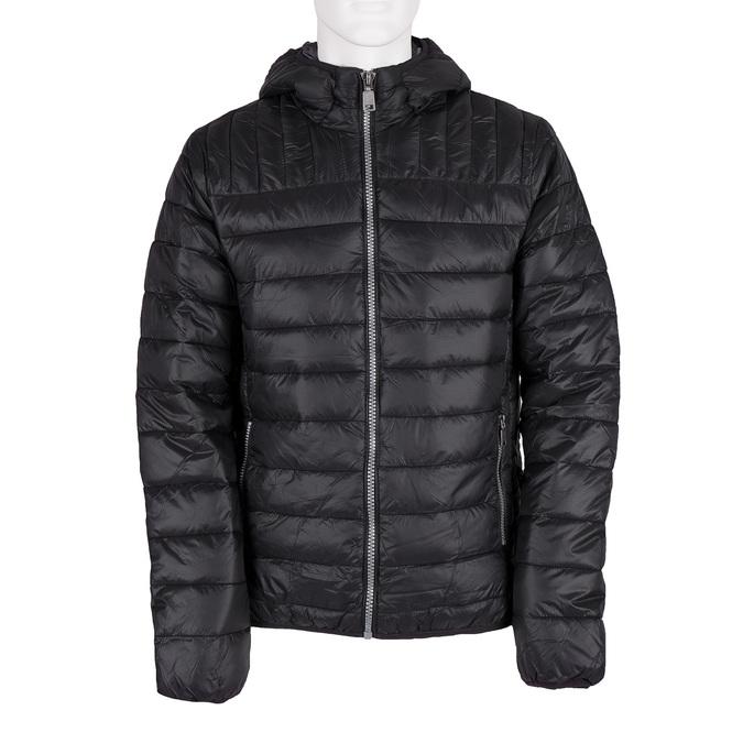Pánska prešívaná bunda s kapucou bata, čierna, 979-6143 - 13