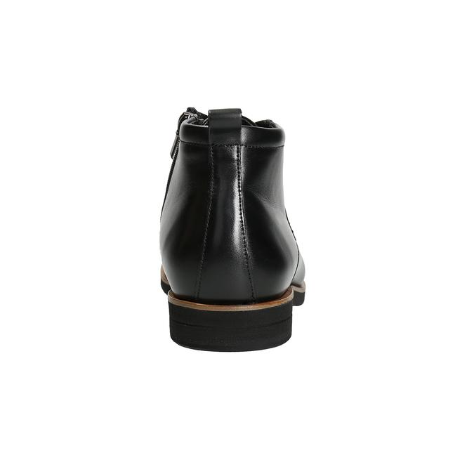 Pánska kožená členková obuv conhpol, čierna, 894-6696 - 16