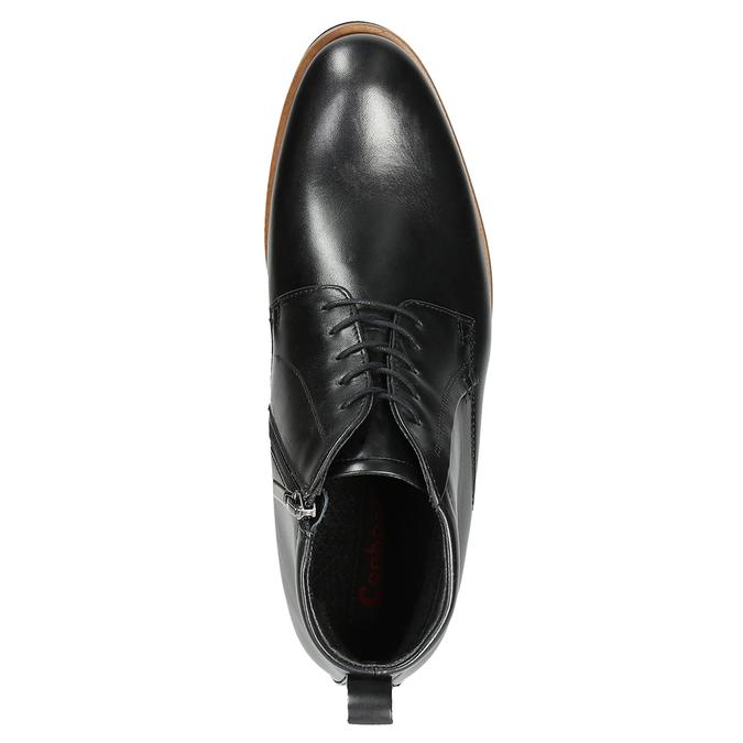 Pánska kožená členková obuv conhpol, čierna, 894-6696 - 15