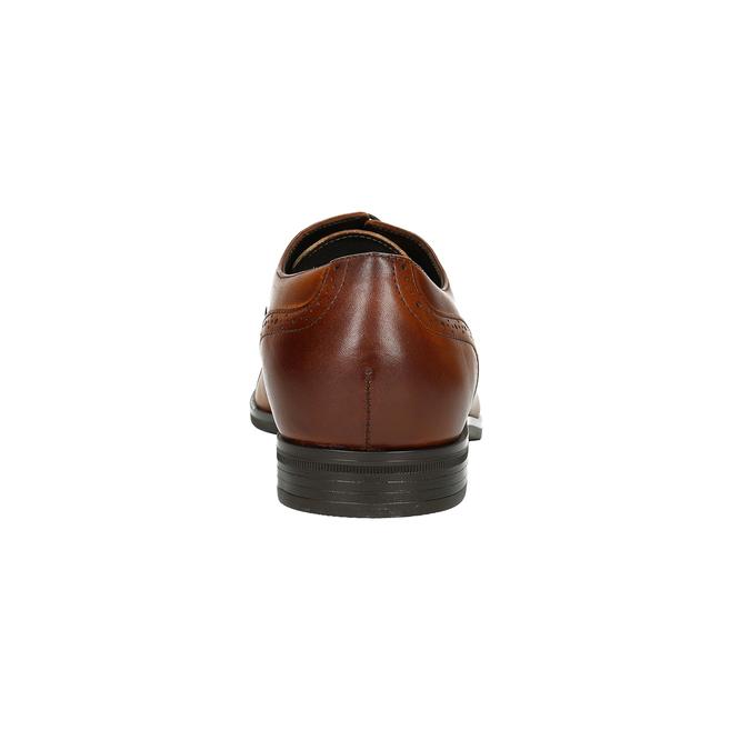 Hnedé kožené poltopánky v Ombré štýle conhpol, hnedá, 826-3923 - 16