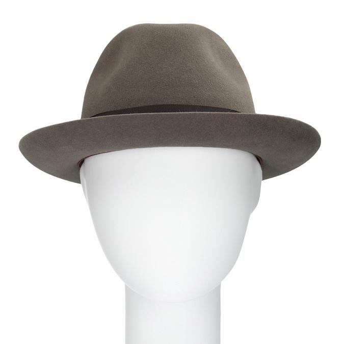Pánsky hnedý klobúk s mašľou tonak, hnedá, 909-3648 - 16