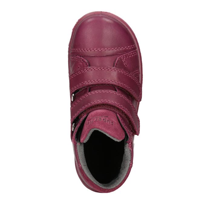 Detská členková kožená obuv superfit, červená, 124-5037 - 15