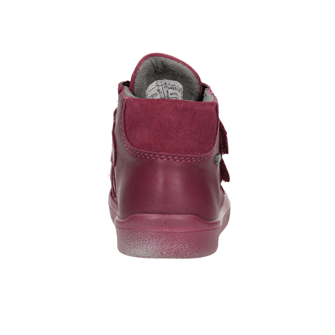 Detská členková kožená obuv superfit, červená, 124-5037 - 16