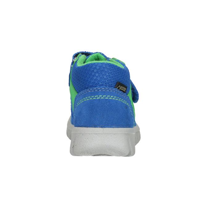 Kožená detská obuv na suchý zips superfit, modrá, 113-9036 - 16