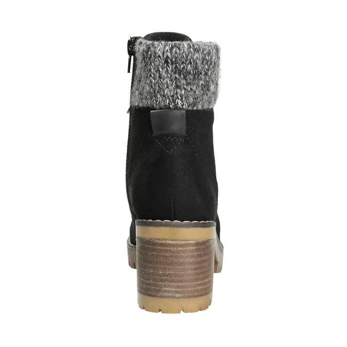 Členková obuv na masivnom podpätku bata, čierna, 699-6633 - 17