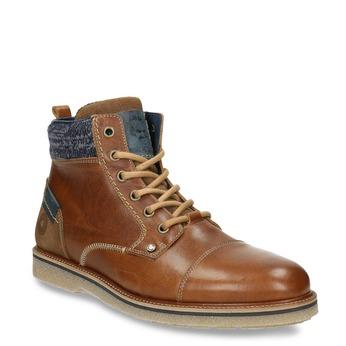 Pánska členková obuv bata, hnedá, 896-3669 - 13