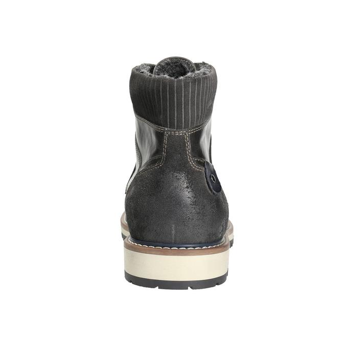 Pánska členková zimná obuv bata, šedá, 896-2657 - 17