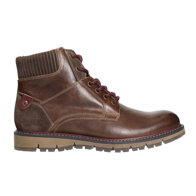 Pánska členková zimná obuv bata, hnedá, 896-4657 - 15