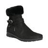 Dámska zimná obuv s kožúškom comfit, čierna, 696-6623 - 13