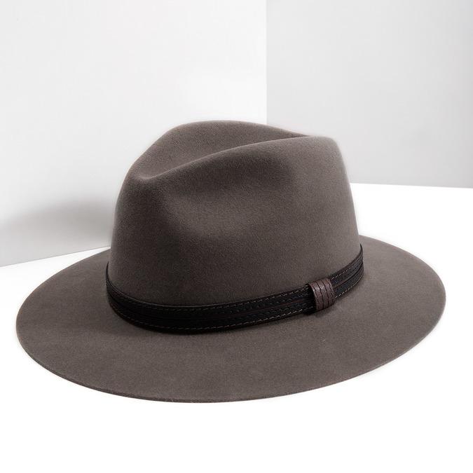 Pánsky klobúk z králičej srsti tonak, hnedá, 909-3650 - 18