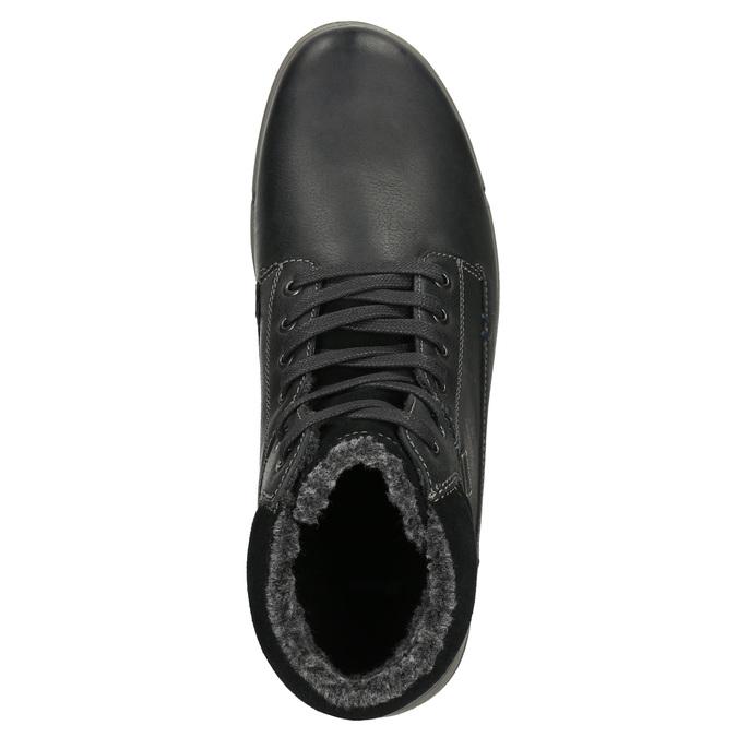 Pánska kožená zimná obuv bata, čierna, 896-6672 - 26