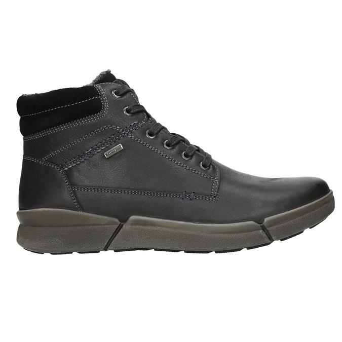 Pánska kožená zimná obuv bata, čierna, 896-6672 - 15