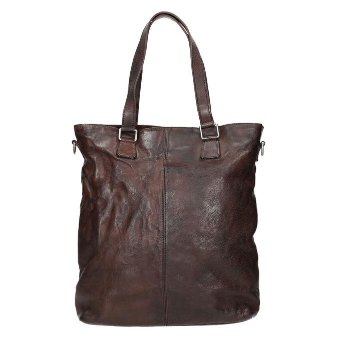 Hnedá kožená kabelka bata, hnedá, 964-4245 - 26