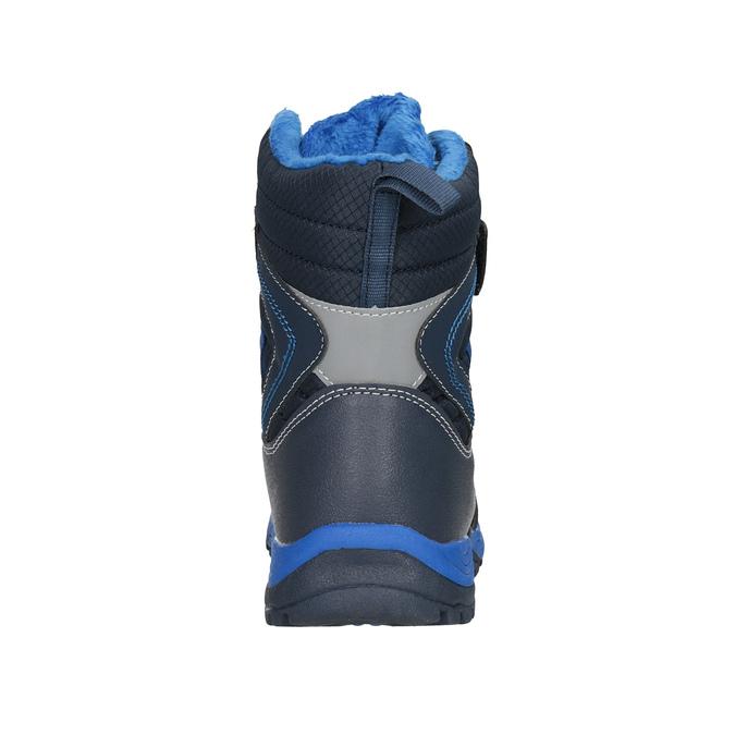 Detská zimná obuv na suchý zips mini-b, modrá, 491-9653 - 16