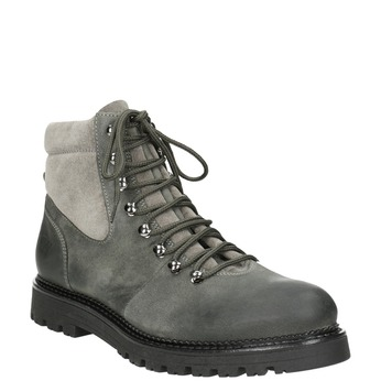 Členková dámska kožená obuv weinbrenner, šedá, 596-2672 - 13