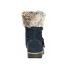 Dievčenské čižmy s kožúškom mini-b, modrá, 393-9605 - 17