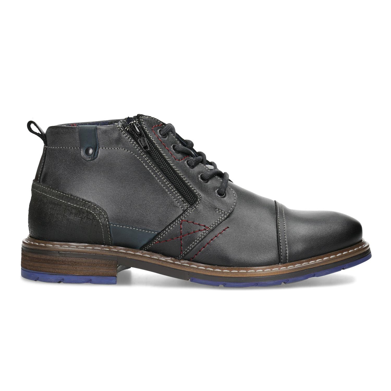 8b9c98a6d9 Bata Pánska kožená členková obuv so zipsom - Zimná obuv