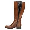 Dámské kožené čižmy s prackou bata, hnedá, 594-3427 - 26