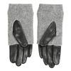 Kožené rukavice so svetrovým detailom bata, šedá, 904-2125 - 16