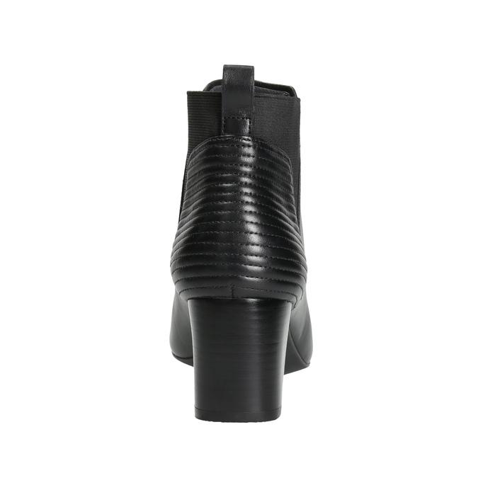 Kožené čižmy na stabilnom podpätku rockport, čierna, 714-6053 - 17