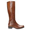 Hnedé kožené čižmy bata, hnedá, 596-4665 - 15