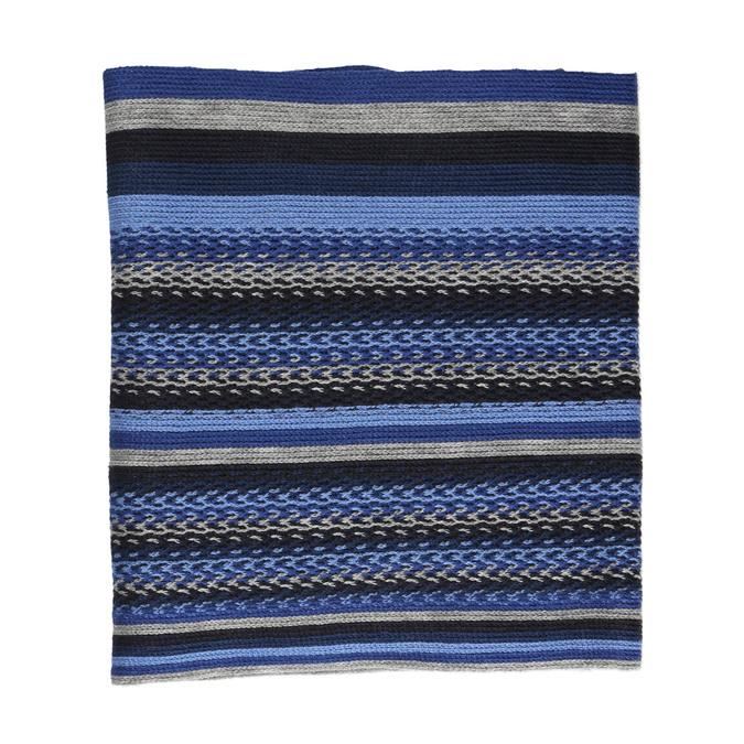 Modrý pánsky šál s prúžkami bata, modrá, 909-9634 - 26
