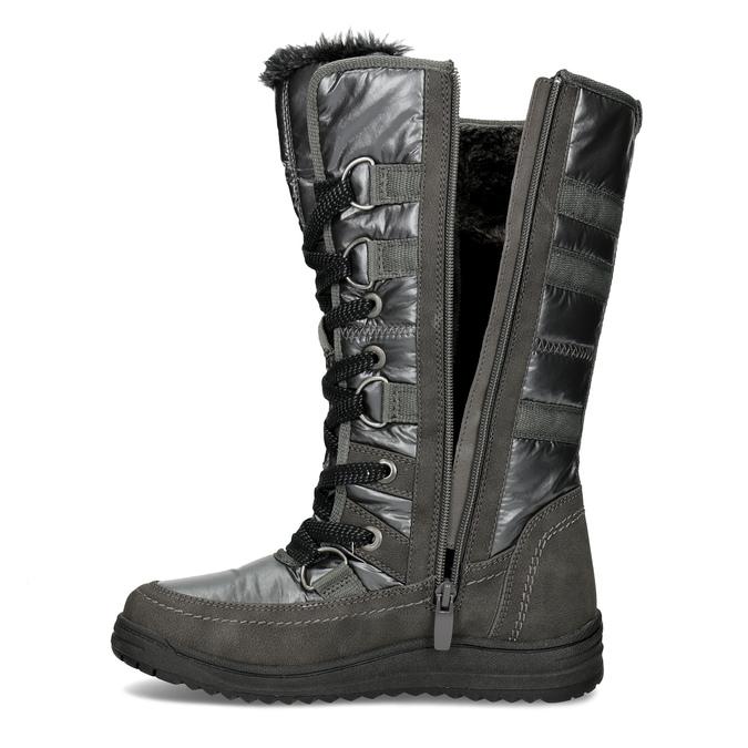 Dámske zimné snehule bata, šedá, 599-2619 - 17