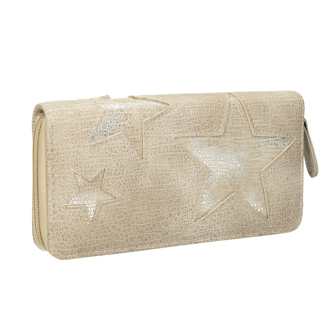 Dámska peňaženka s hviezdami bata, béžová, 941-2154 - 13