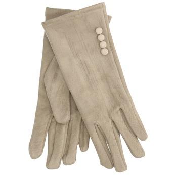 Dámske textilné rukavice s gombíkmi bata, béžová, 909-8612 - 13