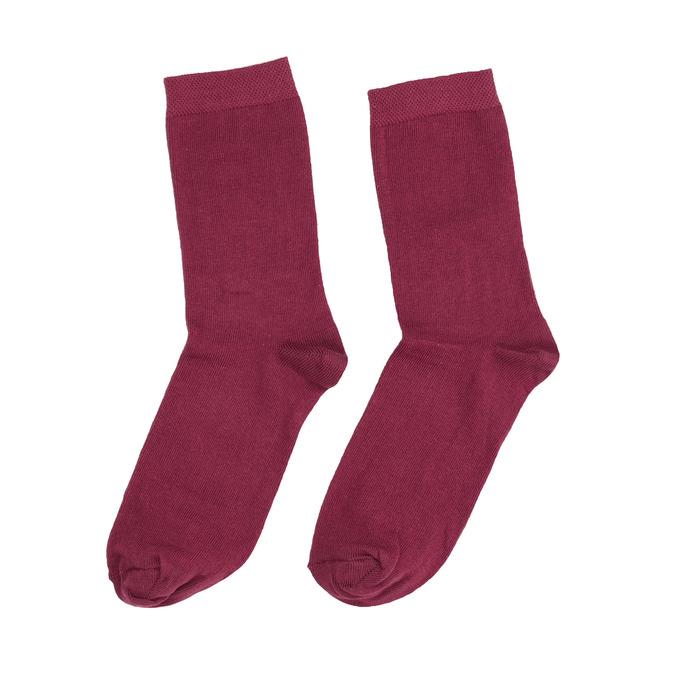 Dámske vínové ponožky bata, červená, 919-5303 - 26