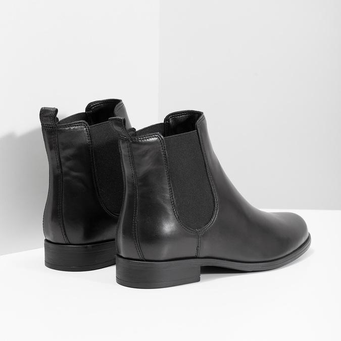Dámske kožené Chelsea Boots bata, čierna, 594-6661 - 16