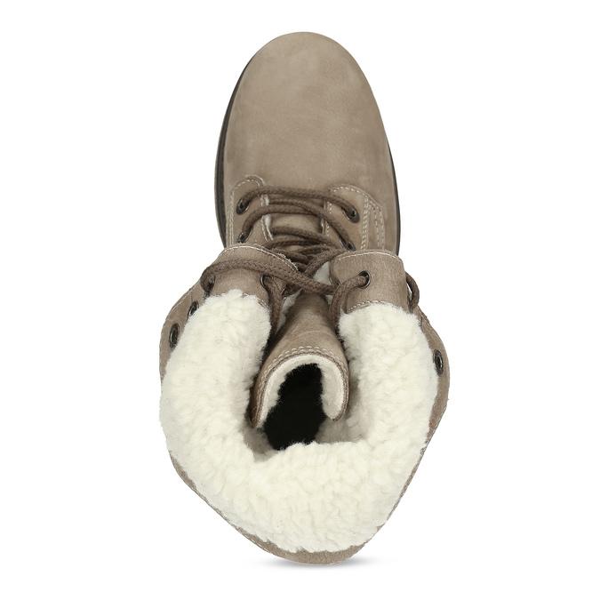 Kožená dámska zimná obuv weinbrenner, hnedá, 696-4336 - 17