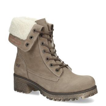 Dámska hnedá zimná obuv z brúsenej kože weinbrenner, hnedá, 696-4336 - 13