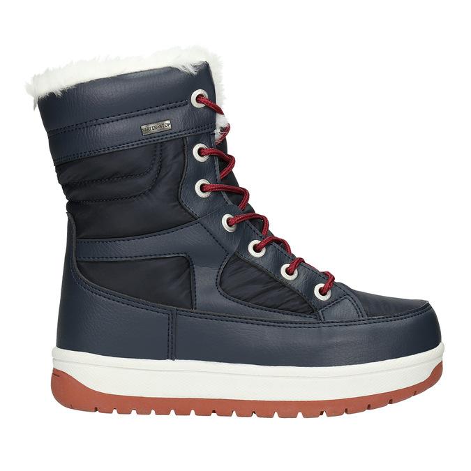 Dámske snehule s kožúškom bata, modrá, 599-9617 - 15