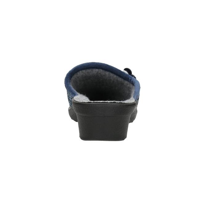 Dámska domáca obuv bata, modrá, 579-9623 - 17