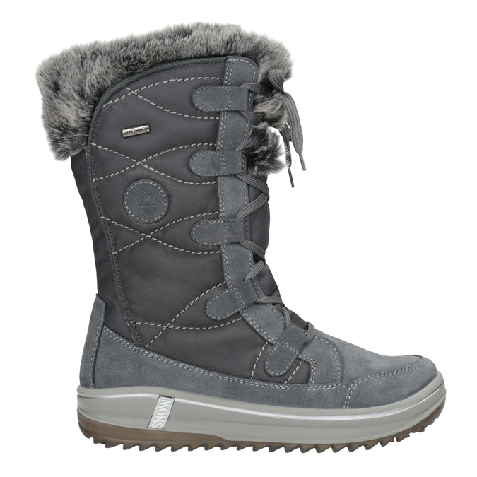 Dámska zimná obuv s kožúškom weinbrenner, šedá, 593-2616 - 26