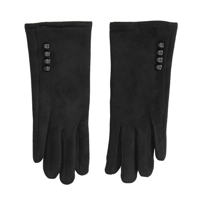 Dámske textilné rukavice bata, čierna, 909-6612 - 26