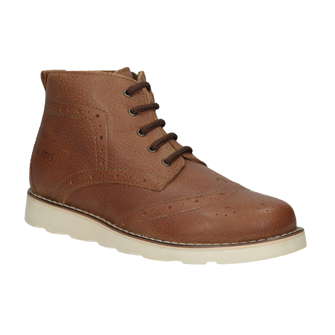 Detská kožená členková obuv primigi, hnedá, 314-3004 - 13