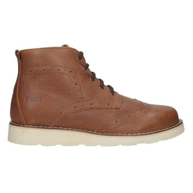 Detská kožená členková obuv primigi, hnedá, 314-3004 - 16