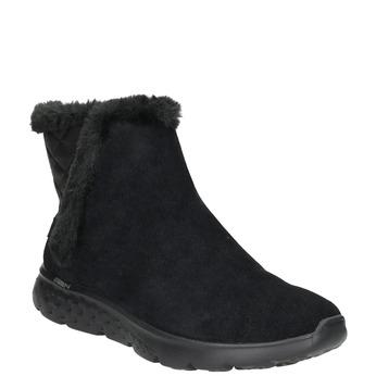 Dámska obuv z brúsenej kože skechers, čierna, 503-6326 - 13