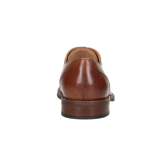 Hnedé kožené poltopánky v Derby strihu bata, hnedá, 826-3812 - 15