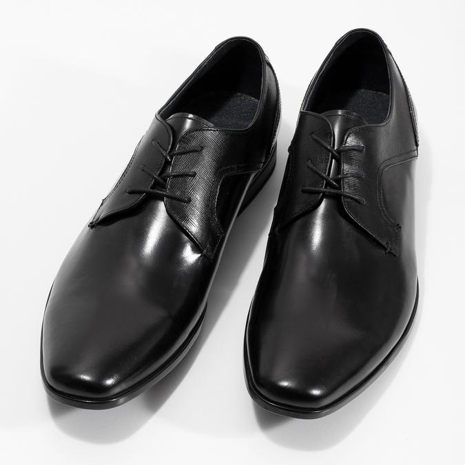Kožené čierne pánske poltopánky bata, čierna, 824-6758 - 16