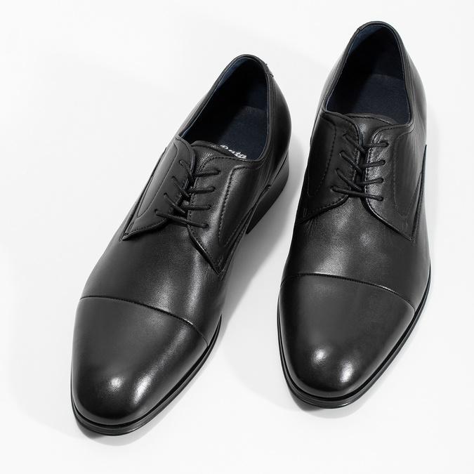 Kožené pánske Derby poltopánky bata, čierna, 824-6406 - 16