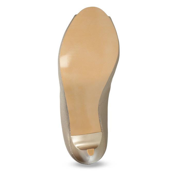 Zlaté spoločenské lodičky z kože bata, 726-8649 - 18