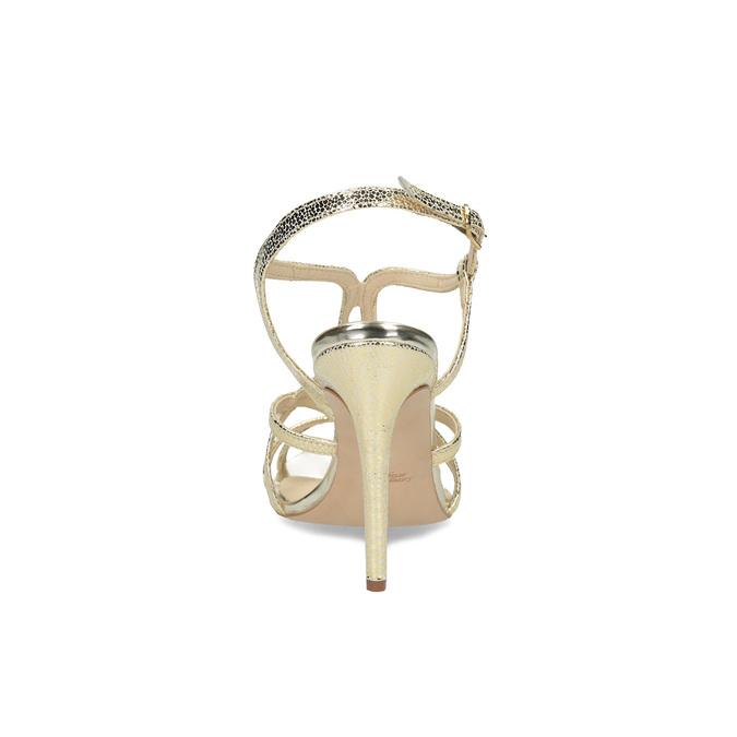 Zlaté spoločenské sandále z kože bata, 726-8648 - 15