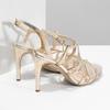 Zlaté spoločenské sandále z kože bata, 726-8648 - 16