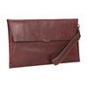 Kožená listová kabelka s prešitím bata, červená, 966-5285 - 13
