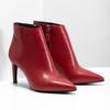 Kožená členková obuv červená bata, červená, 794-5651 - 26