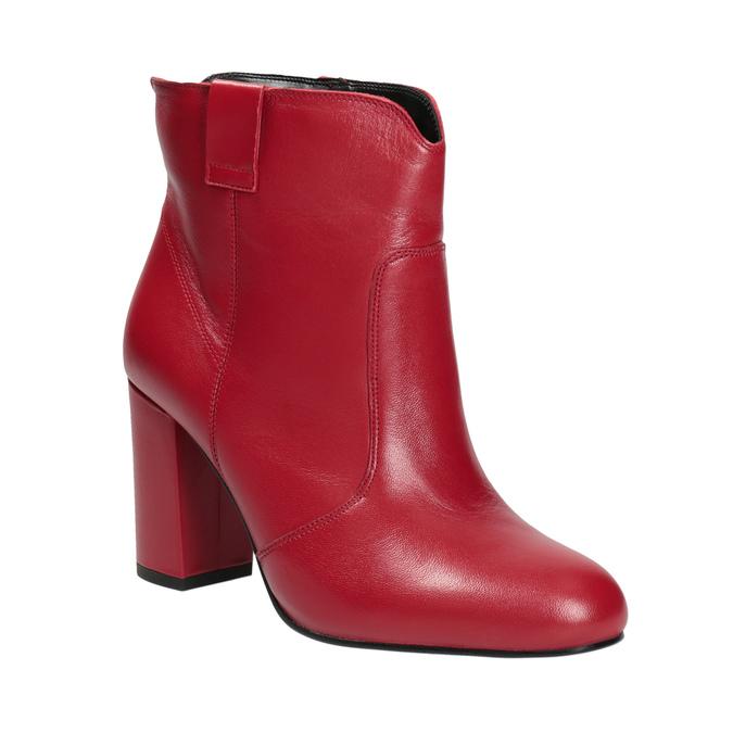 Červené členkové čižmy z kože bata, červená, 794-5652 - 13